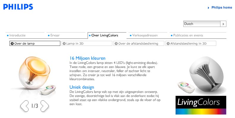 productcopy - philips - livingcolors